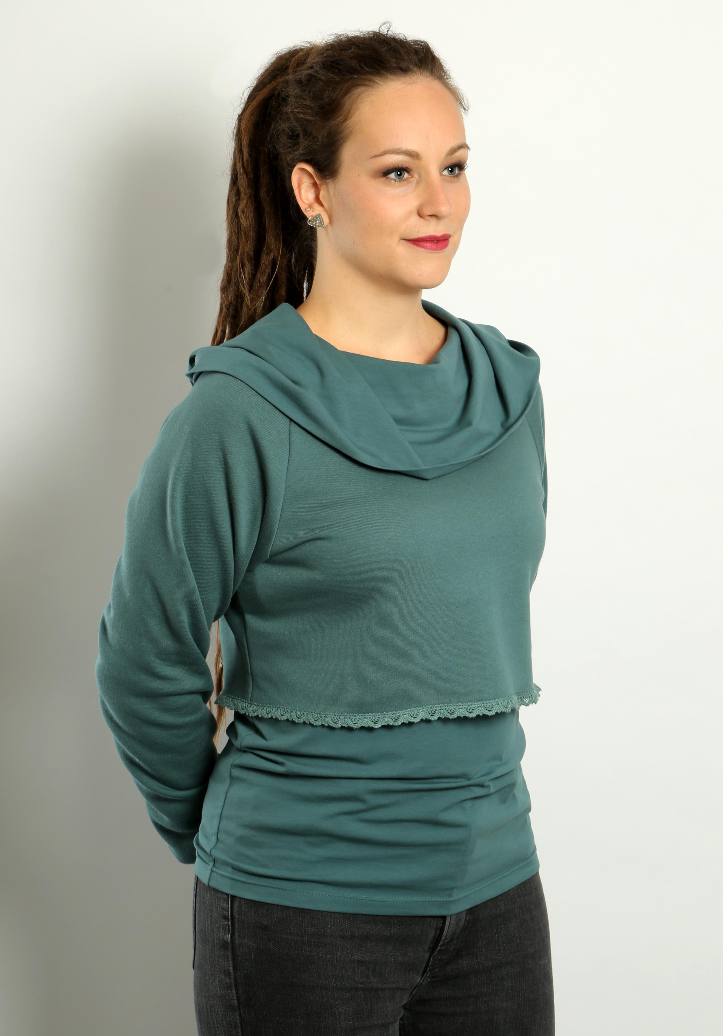 Kurzsweater Blautanne