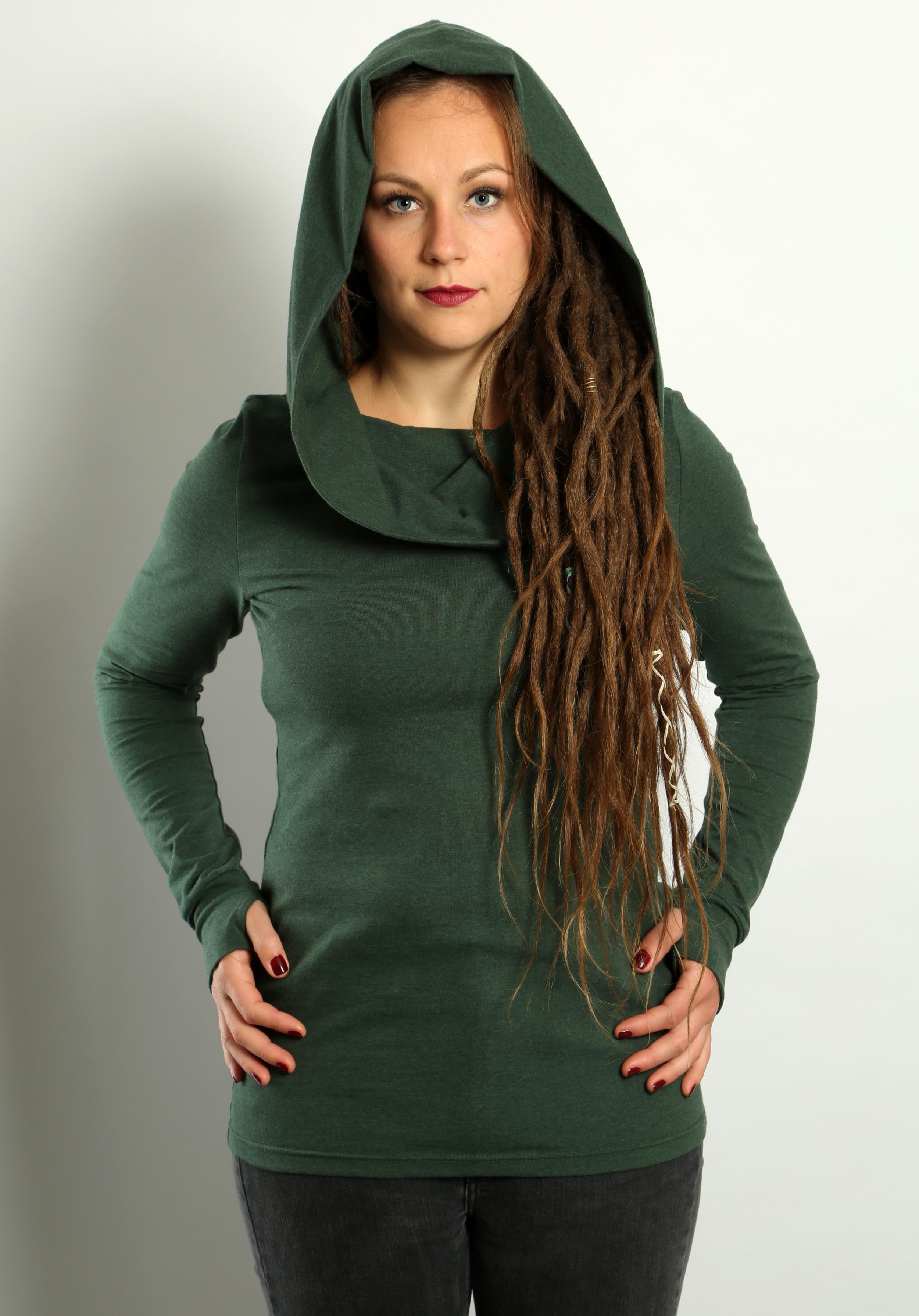 Hoodie Tannengrün