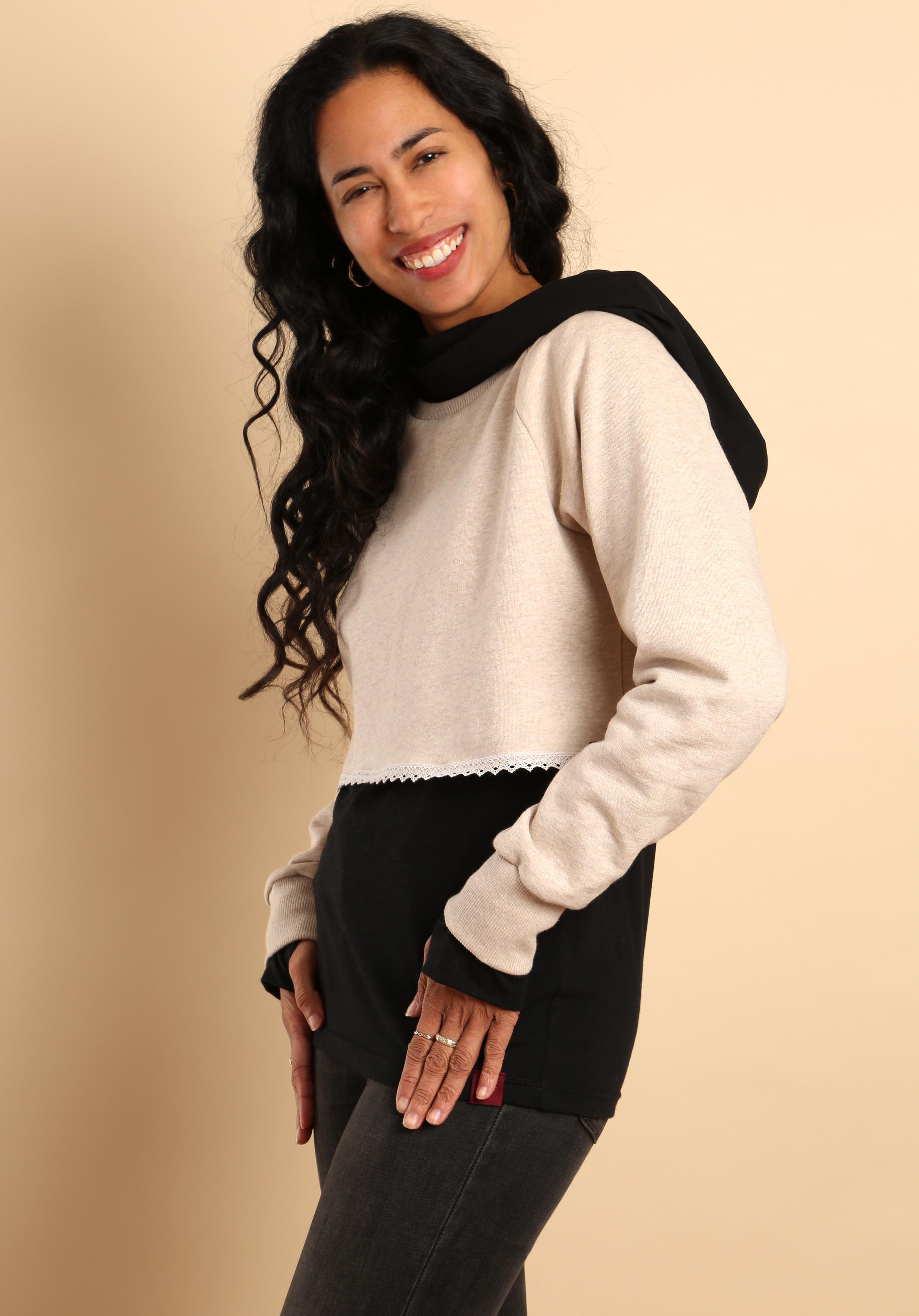 Kurzsweater Creme